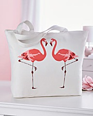 Cotton Flamingo Bag