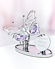 Personalised Crystocraft Butterfly