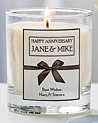 Personalised Vanilla Scented Candle
