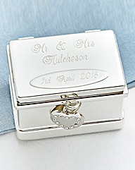 Personalised Double Ring Chest Box