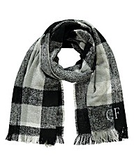 Personalised Grey Checked Scarf