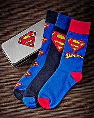 Superman Socks In Gift Tin