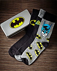 Batman Socks In Gift Tin