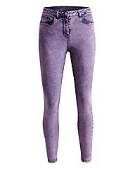 Simply Be Rosie Mottled Skinny Jeans Reg