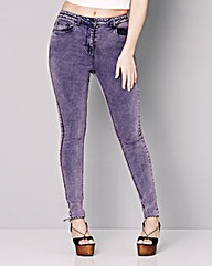 Simply Be Rosie Acid Wash Skinny Jeans