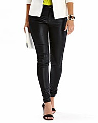 Simply Be Trixy Wet Look Jeans Reg