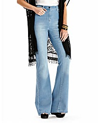 Simply Be Phoebe Kick Flare Jeans Short