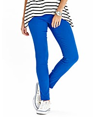 Simply Be Cobalt Slim Leg Jeggings Short