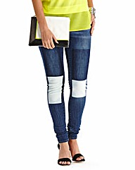 Simply Be Hollie Skinny Patch Jeans Reg