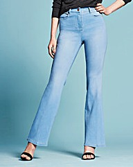 Kim High Waisted Bootcut Jeans Long