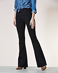 Simply Be Phoebe Kick Flare Jeans Long