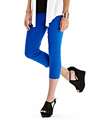 Simply Be Cobalt Crop Jeggings Reg