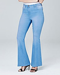 Phoebe High Waist Kick Flare Jeans Short