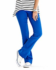 Simply Be Cobalt Bootcut Jeggings Long