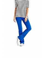 Simply Be Cobalt Bootcut Jeggings Short
