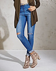 Simply Be Taylor Ripped Skinny Jeans Reg