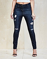Simply Be Zoe Shredded Skinny Jeans Reg