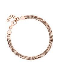 Simply Silver Rose Gold Slinky Bracelet