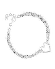 Simply Silver Heart Bracelet