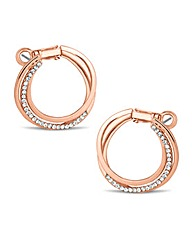 Jon Richard Rose Gold Hoop Earring