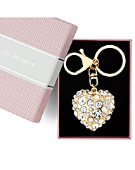Jon Richard Crystal Heart Keyring