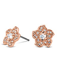 Jon Richard Rose Gold Flower Earring