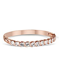 Jon Richard Rose Gold Twist Bangle