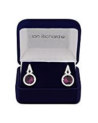 Jon Richard Round Cubic Zirconia Earring