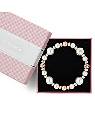 Jon Richard Rose Gold and Pearl Bracelet