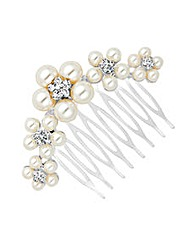 Jon Richard Pearl Flower Hair Comb