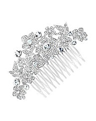 Jon Richard Crystal Floral Hair Comb