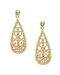 Jon Richard Gold Crystal Drop Earring
