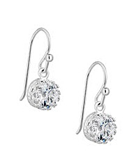 Simply Silver Solitaire Drop Earring