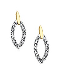 Jon Richard Two Tone Drop Earring