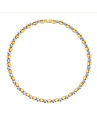 Jon Richard Gold Crystal Link Necklace