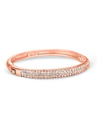 Jon Richard Rose Gold Crystal Bangle