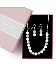 Jon Richard Crystal Ball and Pearl Set