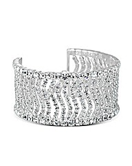 Jon Richard Crystal Wave Cuff Bracelet