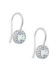 Simply Silver Halo Drop Earring