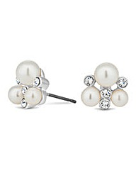 Jon Richard Pearl and Crystal Earring
