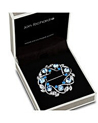 Jon Richard Blue Crystal Wreath Brooch