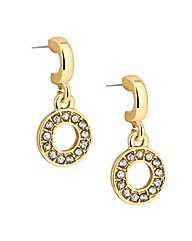 Jon Richard Crystal Disc Drop Earring