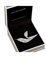 Jon Richard Crystal Encased Leaf Brooch