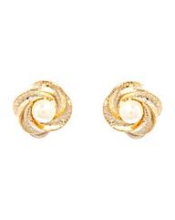 Espree Chunky Flower Faux Pearl Earrings