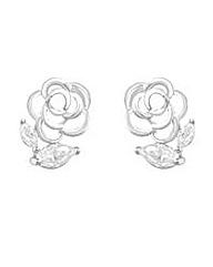 Espree Crystal Flower Stud Earring