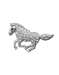 Espree Crystal Set Horse Brooch