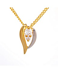 Espree Two Tone Crystal Pendant
