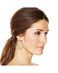 Jon Richard Rose Gold Disc Earring