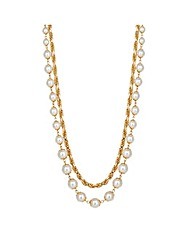 Jon Richard Pearl Double Row Necklace