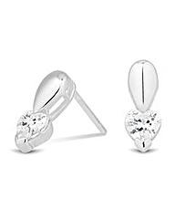 Simply Silver Heart Earring